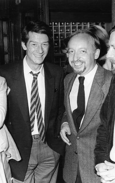 John Hurt & Jacques Dubrulle op de opening in 1984