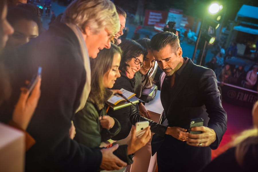 Colin Farrell op de première van 'The Lobster' op FFG2015