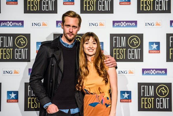 Alexander Skarsgård & Bel Powley at the premiere of 'The Diary of a Teenage Girl' at FFG2015