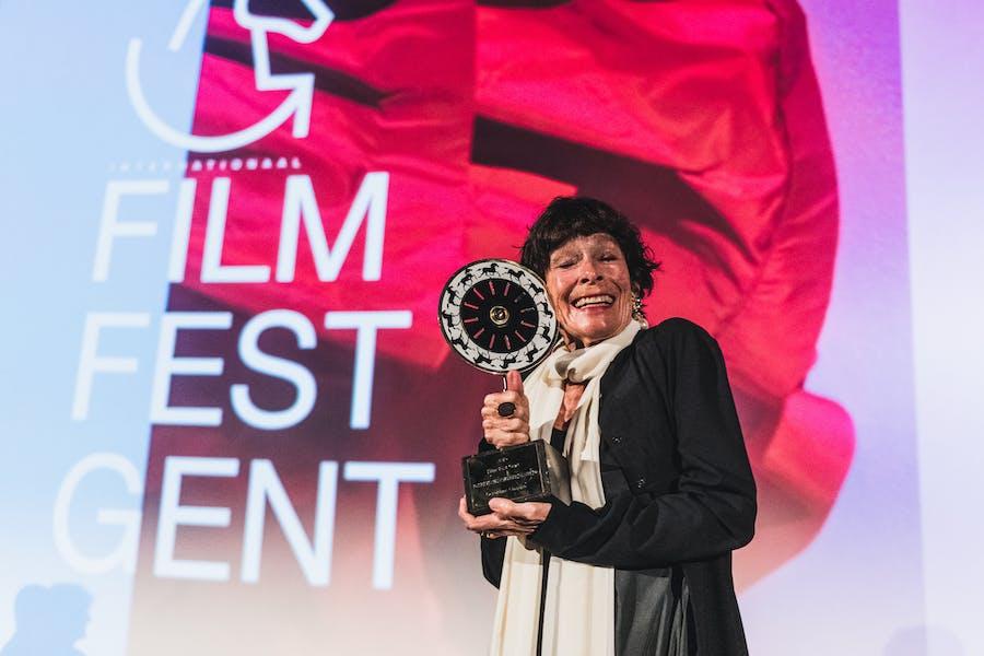 Geraldine Chaplin en haar Joseph Plateau Honorary Award op FFG2019
